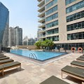 Pool View 2BR in Marina Quay East